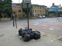 odpady na ulicy